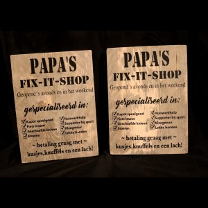 Papa's fix - it - shop plank